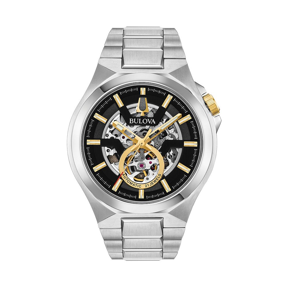 Bulova Men's Maquina Stainless Steel Automatic Watch - 98A224
