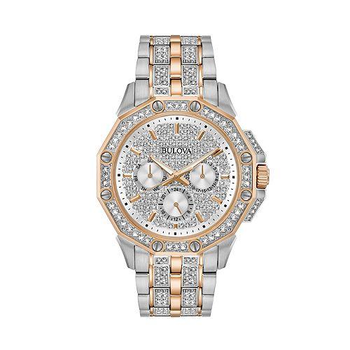 Bulova Men's Octava Two-Tone Crystal Watch - 98C133