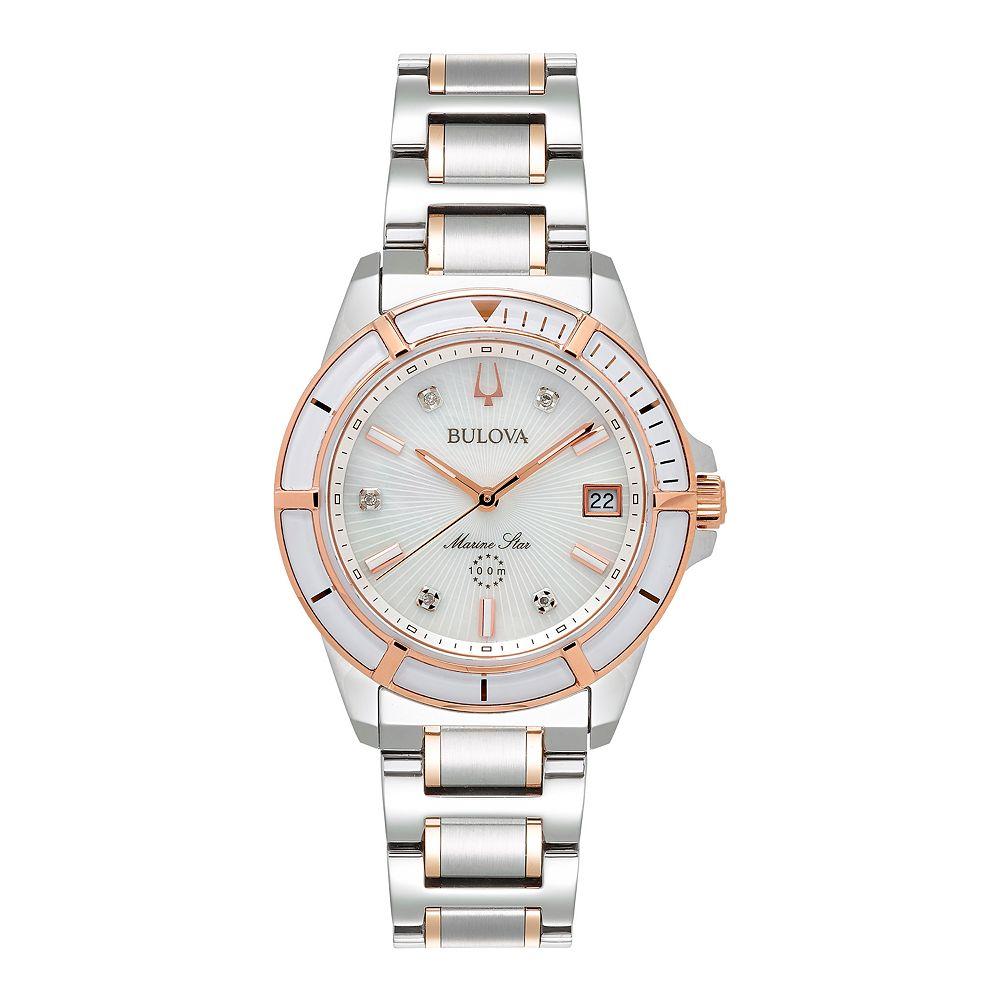 Bulova Women's Marine Star Two Tone Watch - 98P187