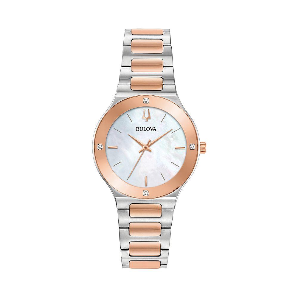 Bulova Women's Millennia Two-Tone Diamond Accent Watch - 98R274