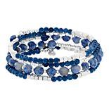 Sonoma Semi Precious Multi Bead Coil Bracelet