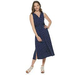 Women's Dana Buchman Knot-Front Midi Dress