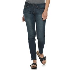 Juniors' SO® Faded Skinny Jeans