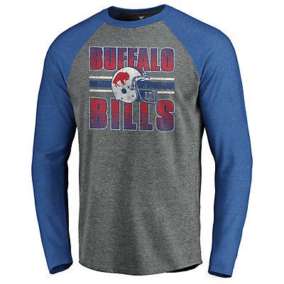 Men's NFL Buffalo Bills Horizon Stripe Helmet Crewneck