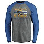 Men's NFL Los Angeles Rams Horizon Stripe Helmet Crewneck