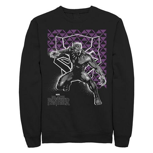 Juniors' Marvel Black Panther Stance Fleece