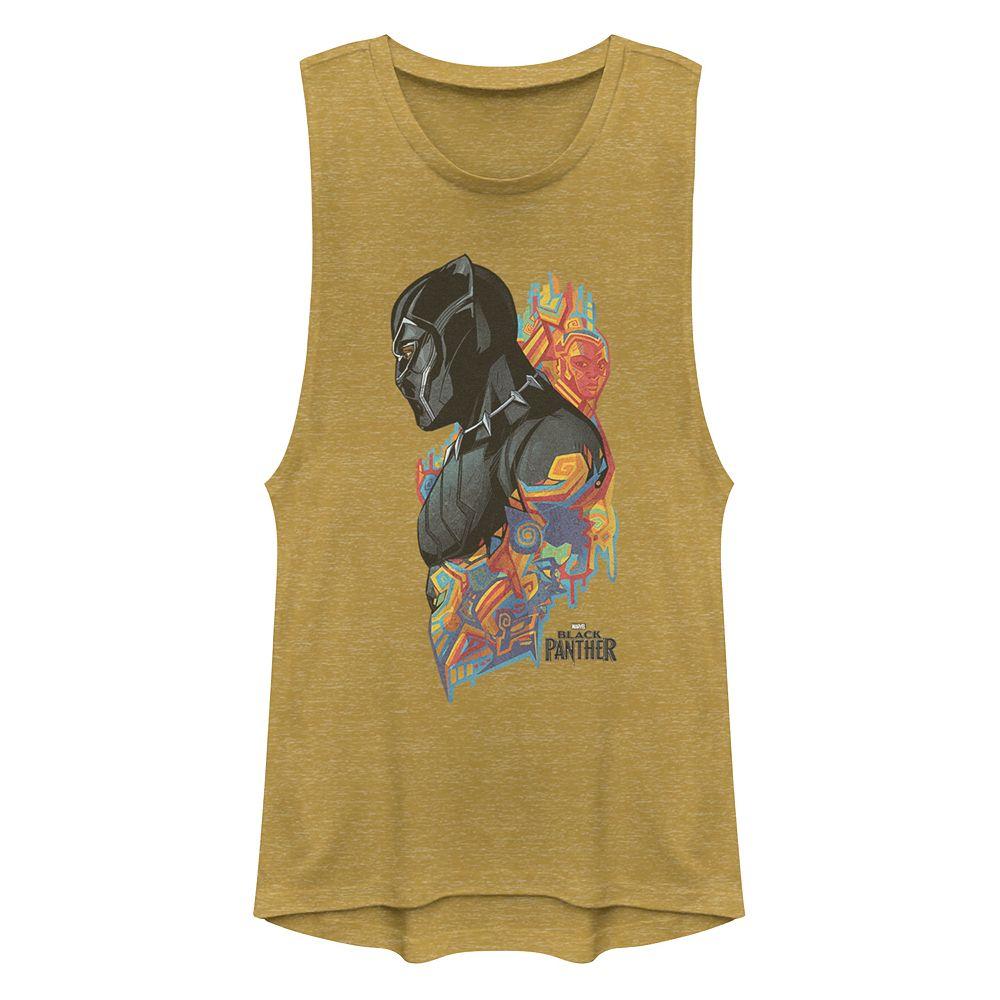Juniors' Marvel Black Panther Colorful Tank Top
