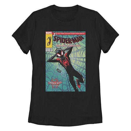 Juniorss Spider-Verse Miles Comic Cover Tee