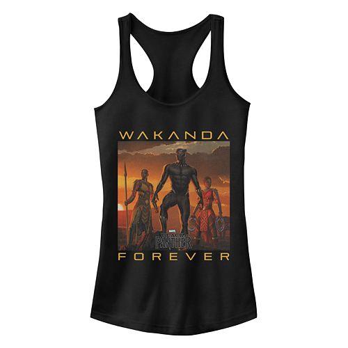 Juniors' Black Panther Wakanda Forever Slim Tank
