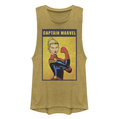 Juniors' Marvel Retro Captain Marvel Tank Top