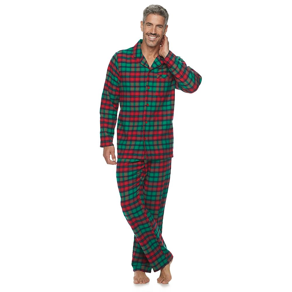Men's Jammies For Your Families® Red Plaid Notch Family Flannel Pajamas