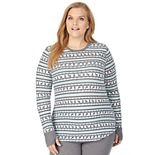 Women's Plus Size Cuddl Duds® Thermal Long Sleeve Shirt