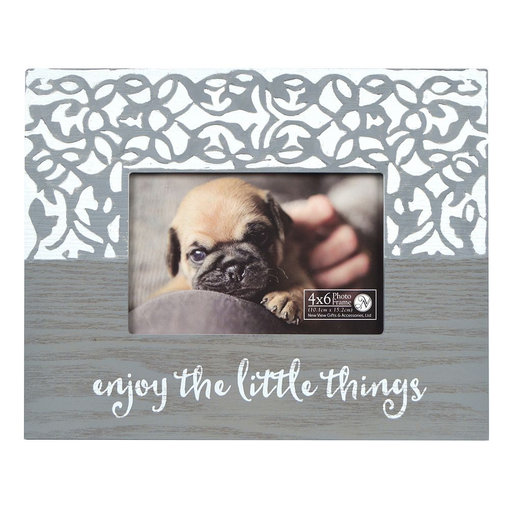 "New View ""Enjoy the Little Things"" Carved Frame"