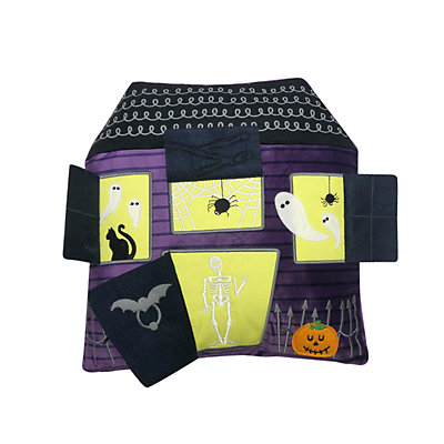 Celebrate Halloween Together Haunted House Throw Pillow