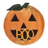 "Celebrate Halloween Together ""BOO"" Pumpkin Throw Pillow"