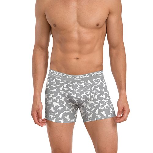 Men's Nick Graham 3-Pack Super Soft Touch Performance Cotton Stretch Boxer Briefs