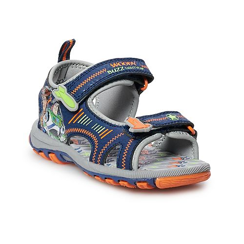 Disney / Pixar Toy Story 4 Woody & Buzz Lightyear Toddler Boys' Light Up Sandals