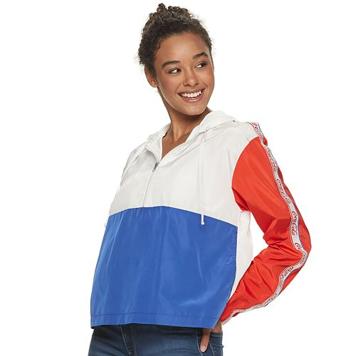 Juniors' Coca-Cola Colorblock Windbreaker
