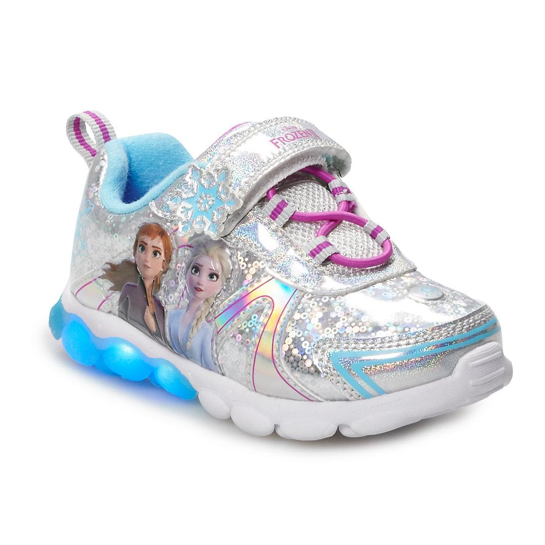 Disney Frozen Anna /& Elsa Girls/' Light-Up Sneakers Shoe Sz 9,10,11,12 6,7,8