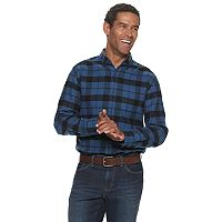 Kohls.com deals on Croft & Barrow Extra-Soft Flannel Button-Down Shirt Mens