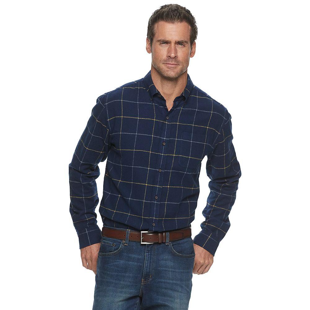 Men's Croft & Barrow® Extra-Soft Flannel Button-Down Shirt