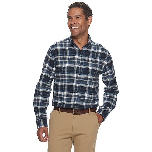Men's Croft & Barrow® Extra-Soft Flannel Button-Down Shirt