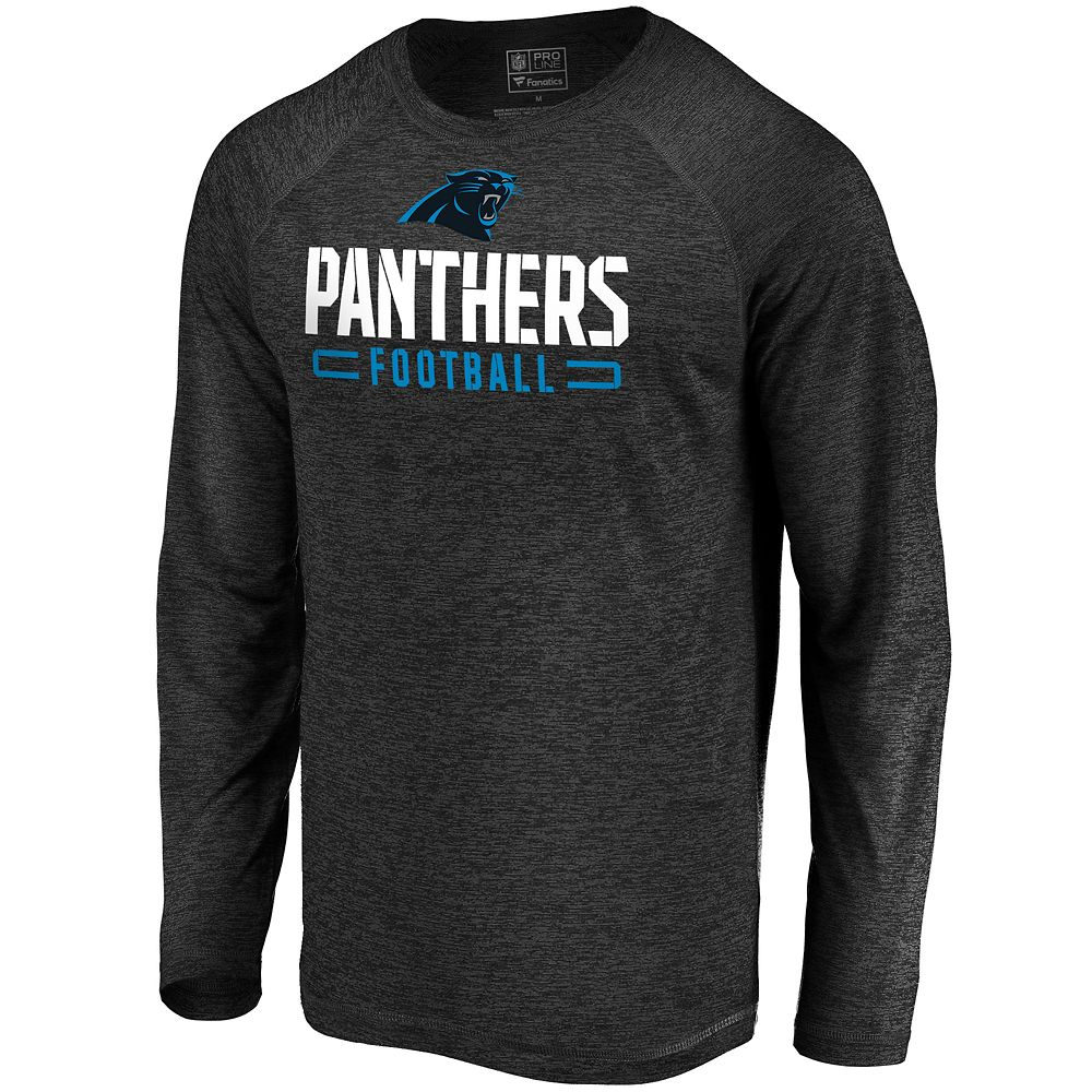 Men's North Carolina Panthers Striated Engage Long Sleeve Tee