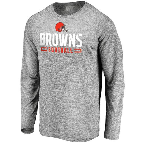 Men's Cleveland Browns Striated Engage Long Sleeve Tee