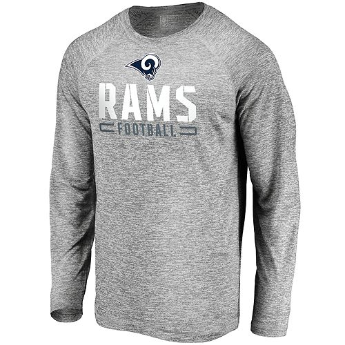 Men's Los Angeles Rams Striated Engage Long Sleeve Tee