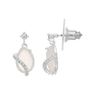 Rhode & Co. White Agate Teardrop Earrings
