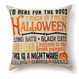 Celebrate Halloween Together Words Decorative Pillow