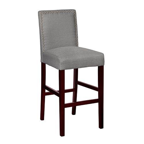 Homefare Nailhead Trim Upholstered Barstool