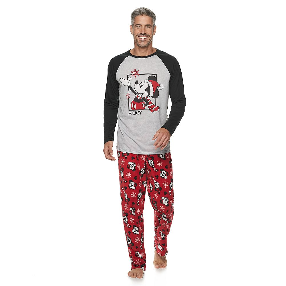 Disney's Mickey Mouse Men's Top & Bottoms Pajama Set by Jammies For Your Families