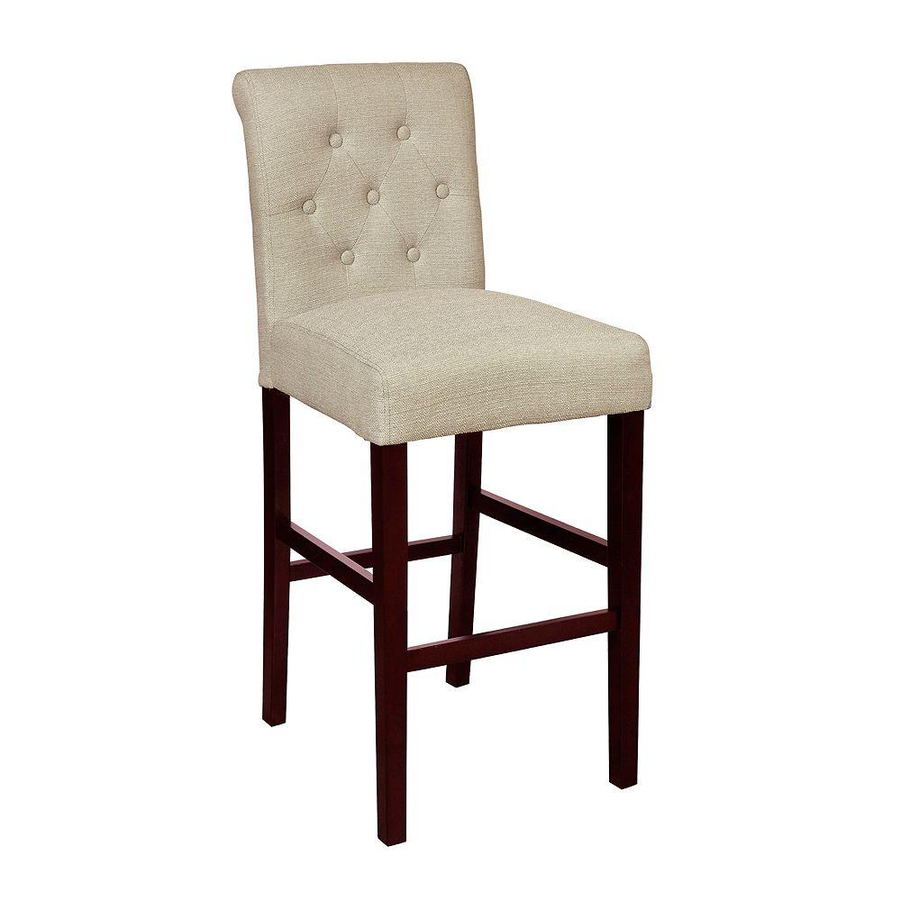Homefare Tufted Rolled Back Upholstered Barstool