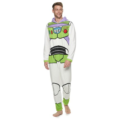 Disney / Pixar's Toy Story 4 Men's Buzz Lightyear One-Piece Pajamas by Jammies For Your Families