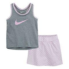 Toddler Girl Nike Tank Top & Polka-Dot Skort Set