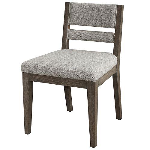 Homefare Slat Back Upholstered Side Dining Chair
