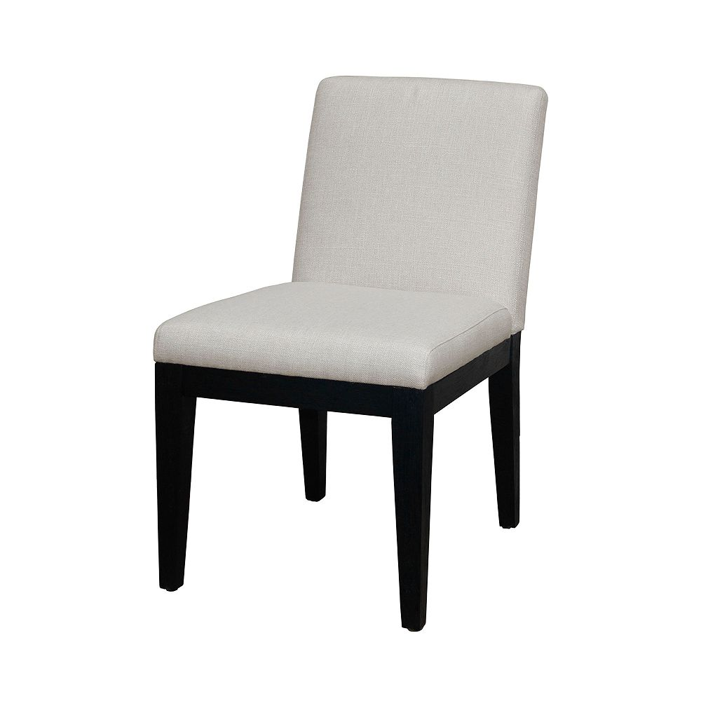 Homefare Natural White Smooth Back Upholstered Dining Chair