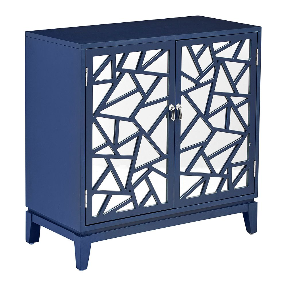 Homefare Mosiac Mirrored Two Door Accent Chest