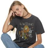 Juniors' Disney's Lion King Group Poster Tee Shirt