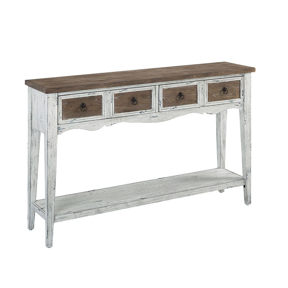 Homefare Two Drawer Console Table in Antique