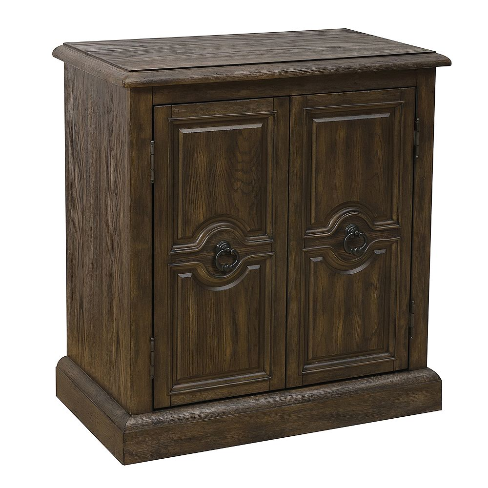 Home Meridian Two Door Carved Accent Chest