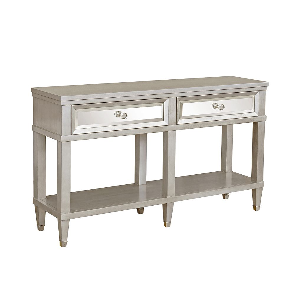 Homefare Two Drawer Mirrored Front Entryway Console
