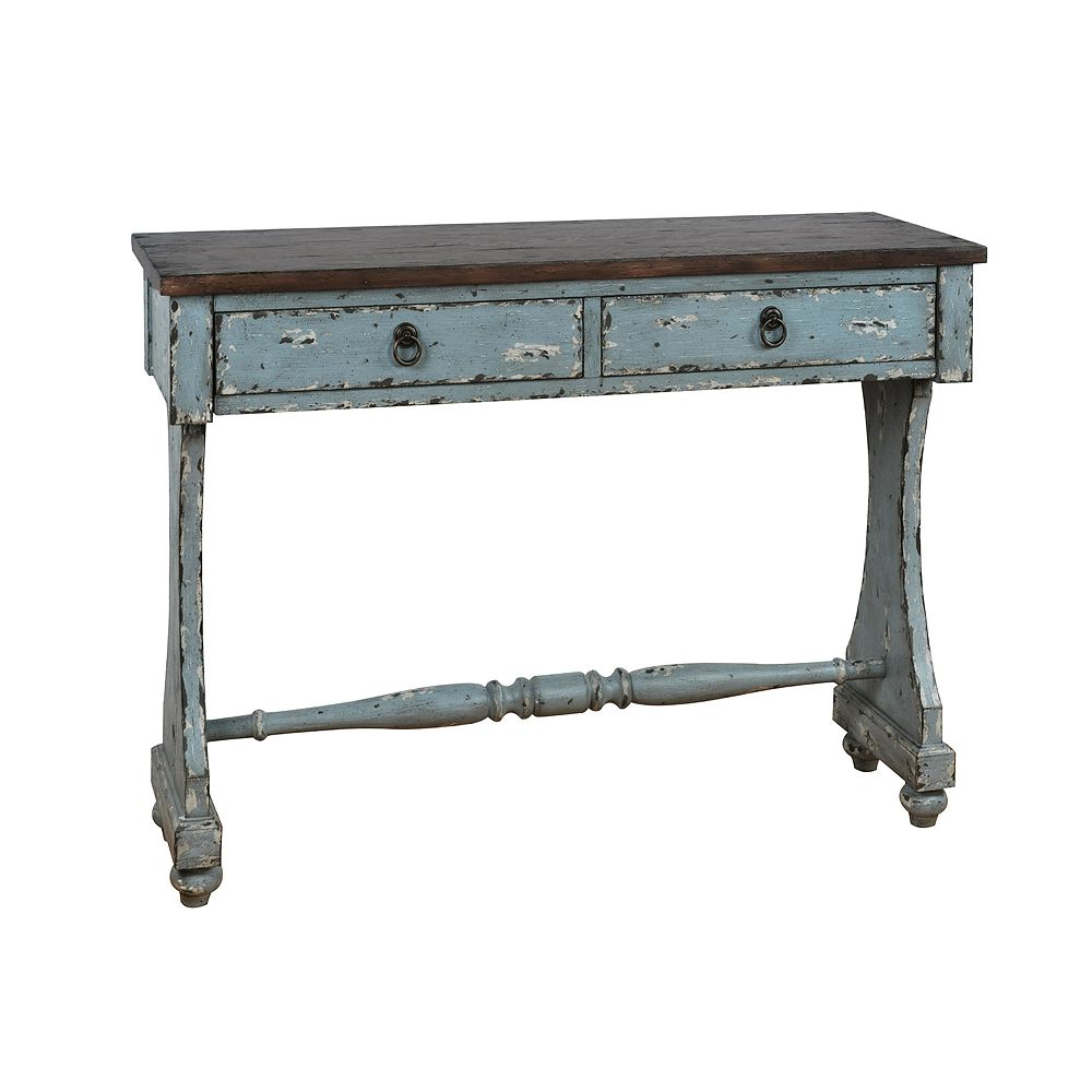 Homefare Distressed Two Drawer Entryway Console Table