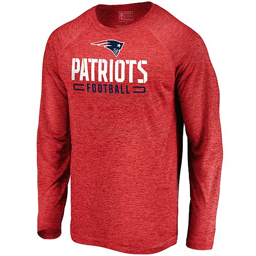 Men's New England Patriots Striated Engage Long Sleeve Tee