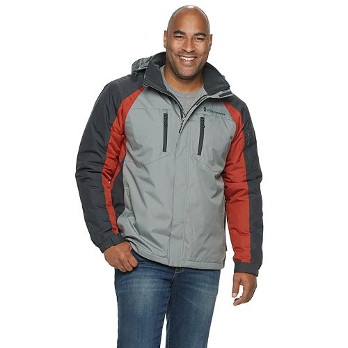 Big & Tall Free Country Colorblock Ripstop Midweight Hooded Jacket