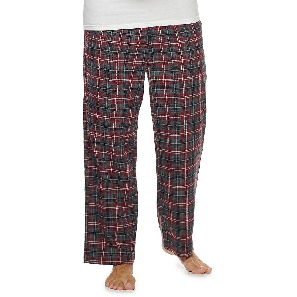 Men's Croft & Barrow® Plaid Flannel Sleep Pants