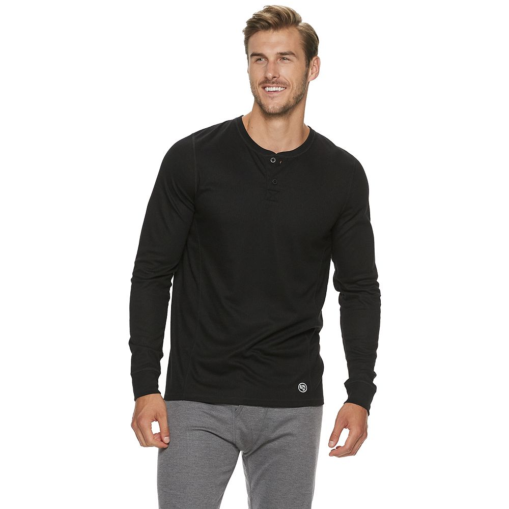 Big & Tall Climatesmart® by Cuddl Duds Long-Sleeved Heavyweight ProExtreme Performance Base Layer Henley
