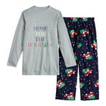 Boys 4-20 Jammies For Your Families Home For The Holidays Tee & Pants Pajama Set