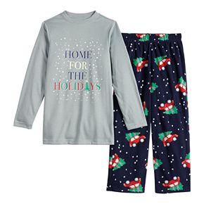 Boys 4-20 Jammies For Your Families Home For The Holidays Tee & Pants Pajama Set
